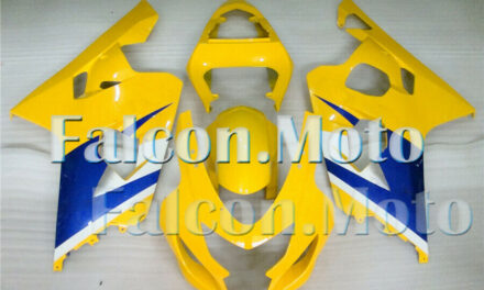 Yellow Blue Injection Fairing Fit for 2004 2005 GSX-R 600 750 04 K4 ABS Mold aIE