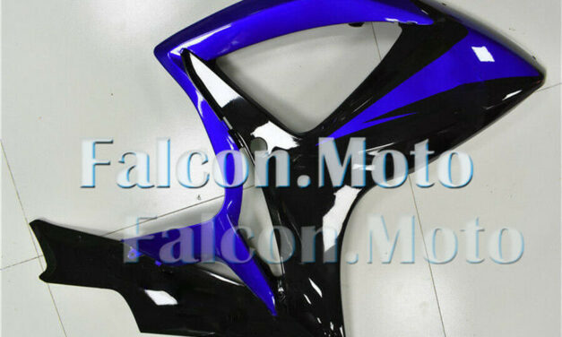 Glossy Black Blue Injection Right Side Fairing for GSXR 600 750 2006-2007 K6 aBF
