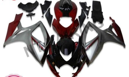Fit for Suzuki 2006 2007 GSXR 600 750 Injection Red Silver Fairing Kit a006