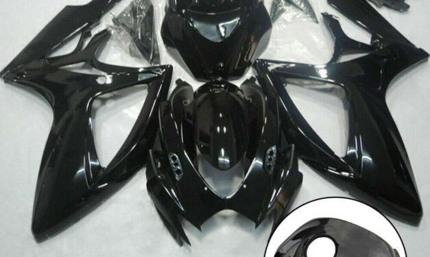 Glossy Black Fairing Kit + Tank Cover For Suzuki GSXR600/750 06-07 ABS Injection