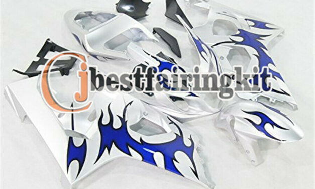 Fit for 2004-2005 GSX-R 600 750 K4 Silver Blue Injection Body Kit Fairing a#12