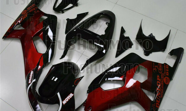 Pearl Red Black Injection Fairing Fit for Suzuki 2001-2003 GSX-R 600 750 K1 a51