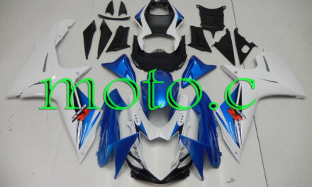 Fairing Kit Fit for GSXR600 GSXR750 2011-2019 ABS Injection White Blue aAc