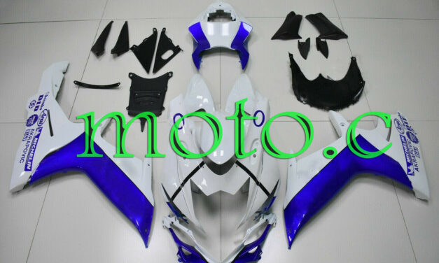 Fairing Kit Fit for GSXR600 GSXR750 2011-2019 ABS Injection Mold Blue White aAf