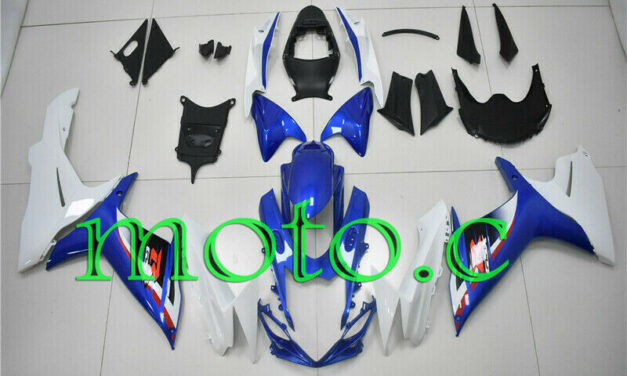 Fairing Kit Fit for GSXR600 GSXR750 2011-2019 ABS Injection Blue White New aAe
