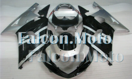 Silver Black Injection Body Kit Fairing Fit for 2001-2003 GSX-R 600 750 K1 Mold