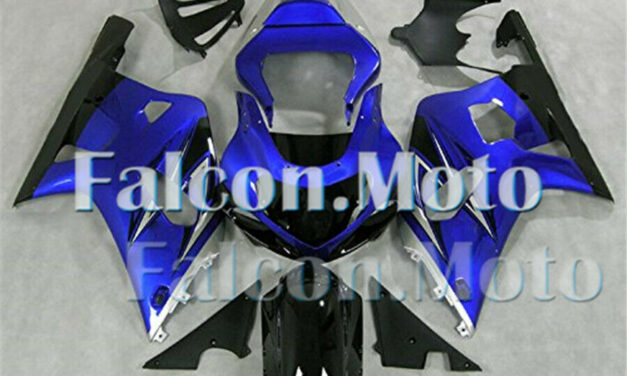 Blue Silver Black Fairing Fit for 2001-2003 GSX-R 600 750 K1 ABS Injection Mold