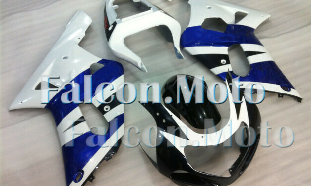 Blue White Fairing Fit for 01 02 03 GSXR 600 750 K1 2001-2003 Injection Mold iAR