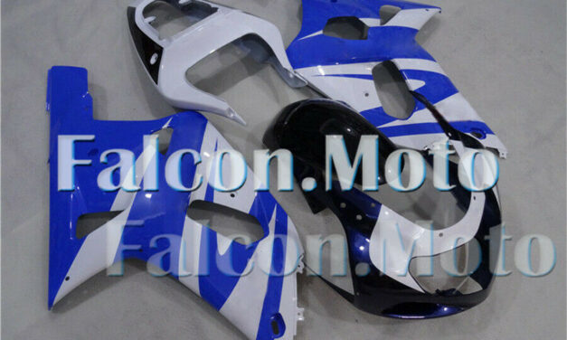 New Blue White Injection Kit Fairing Fit for 2001-2003 GSXR600 GSXR750 K1 iDI