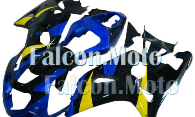 Blue Black Yellow Injection Body Kit Fairing Fit for 01-03 GSX-R 600 750 K1 Mold