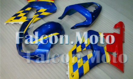 Blue Yellow Red Injection Plastic Fairing Fit for 2001-2003 GSX-R 600 750 K1 aAH