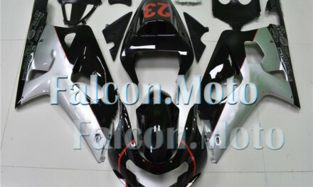 Silver Black Complete Injection Fairing Fit for 2001-2003 GSX-R 600 750 K1 01-03
