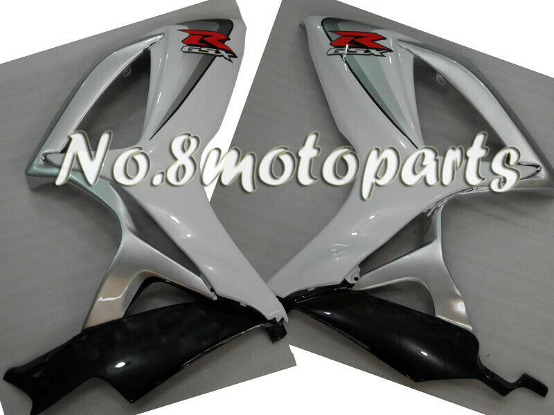 White Silver Black Injection Left Right Side Fairing Fit for GSX-R 600 750 06-07