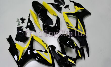 Yellow Black ABS Plastic Injection Fairing Fit for 2006 2007 GSXR600 GSXR750