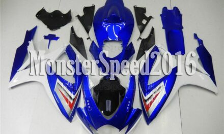 Injection ABS Plastic Fairing New White Blue Fit for Suzuki 06-07 GSX-R 600 750