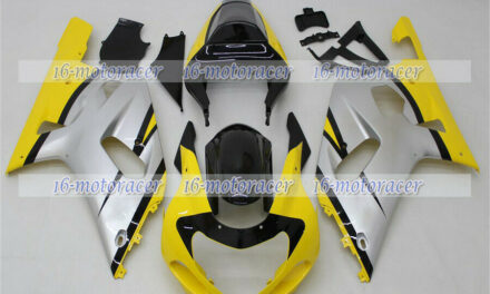 Fairing Injection Fit for GSX-R 600 750 01-03 Silver Black Yellow Body Set a#69