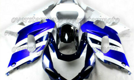 Injection White Blue ABS Plastic Fairing Fit for GSXR 600/750 K1 2001-2003 aAH