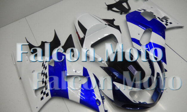 White Blue Fairing Fit for 2001-2003 GSX-R 600 750 K1 Plastic Injection Mold New