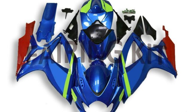 US Stock Injection Blue ABS Fairing Fit for Suzuki 2006 2007 GSXR 600 750 a0117