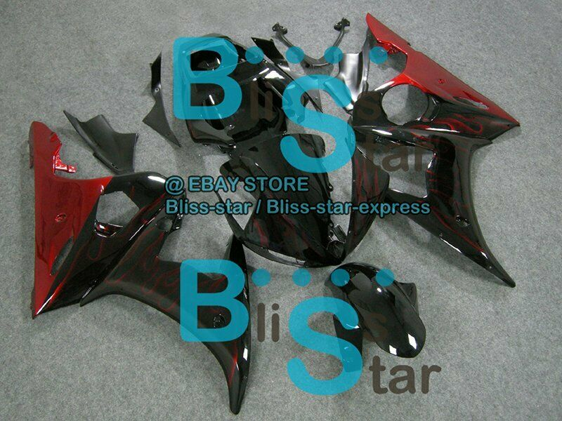 Flames Red INJECTION Fairing Fit Yamaha YZFR6 2003-2005 R6S 2006-2009 A6
