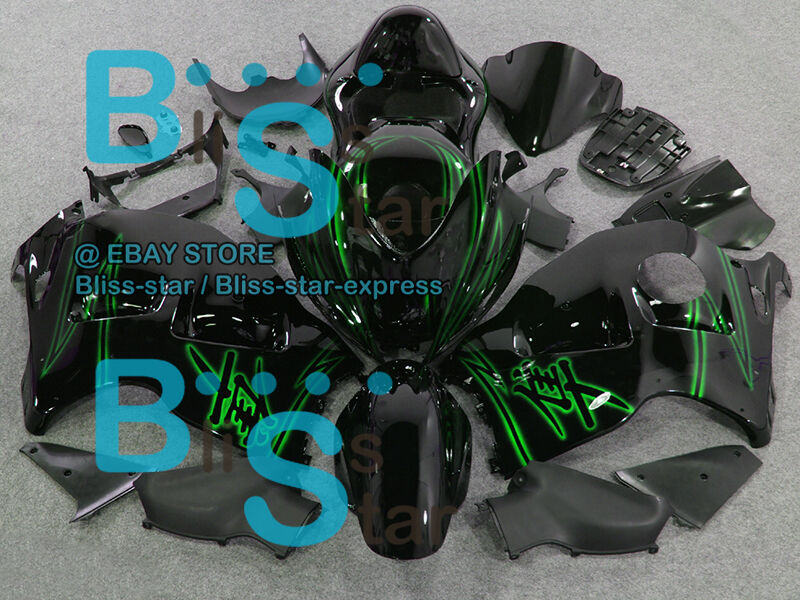 Pattern Green GSXR1300 Fairing With Tank Seat For  GSX-R1300 97-07 196 B7