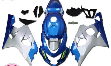 Injection Kit Blue Silver Fairing Fit for Suzuki 2004-2005 GSXR 600 750 a091
