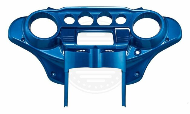 Electric Blue Batwing Inner Cowl Fairing Cap For 2014+ Harley Road Electra