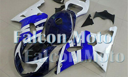 White Blue Injection Plastic Fairing Fit for 2001 2002 2003 GSX-R 600/750 K1 aDF