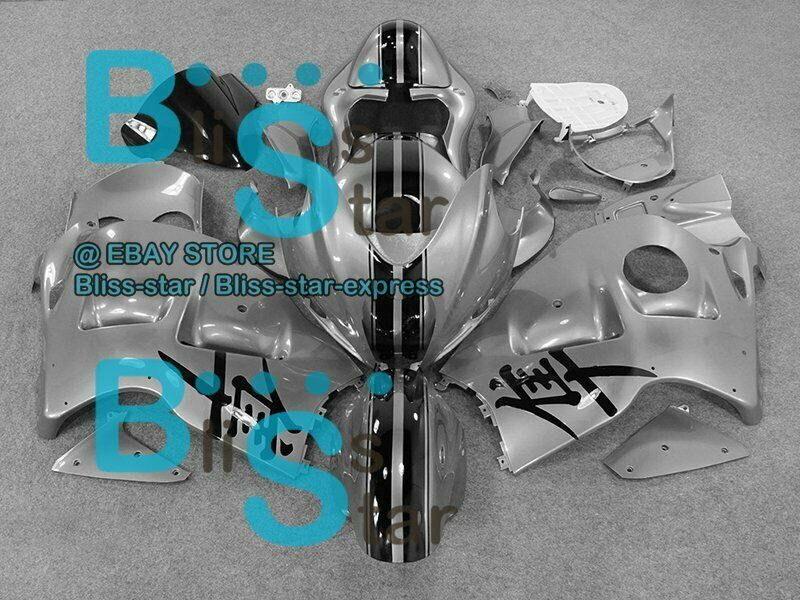 Gray Glossy GSXR1300 Fairing With Tank Seat For  GSX-R1300 97-07 17 B5
