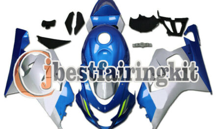 Fit for 04-05 GSXR 600 750 K4 Blue Silver ABS Injection Fairing Plastic Set a#46