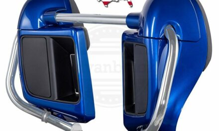 US Stock! Blue Max Lower Vented Fairings For Harley 14-20 Touring Road Street