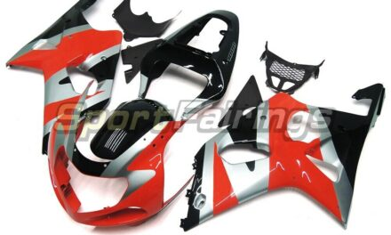 Injection Fairings for 2000 2001 2002 Suzuki GSX-R1000 Red Silver Black Body Kit