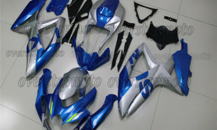 Injection ABS Fairing Fit for 2008-2010 GSXR 600 750 Blue Silver Plastic Kit aBC