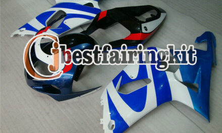 Fit for 2001-2003 GSXR 600 750 K1 ABS Injection White Red Blue Fairing Set a#16
