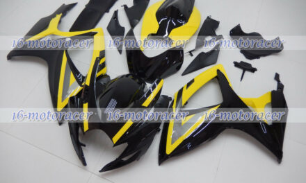 Fairing Injection Mold Body Kit Fit for 2006 2007 GSXR 600/750 Black Yellow a#38