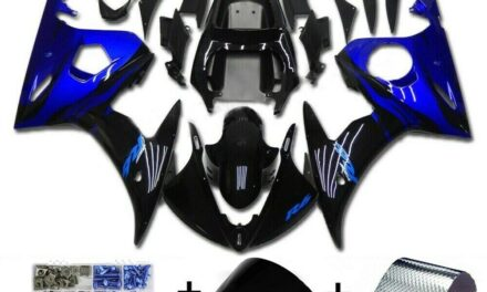 Fairing Blue Black Injection Plastic Kit Fit For YAMAHA 2003 2004 YZF R6 WX
