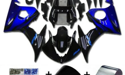 Fairing Blue Black Injection Plastic Kit w/bolt Fit For YAMAHA 2005 YZF R6 FA