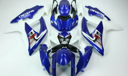 AFTERMARKET ABS PLASTIC FAIRINGS FOR GSXR600/750 08-09 WHITE AND BLUE COLOR