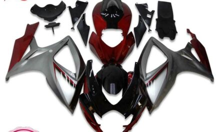 Injection Red Silver Fairing Kit Fit for Suzuki 2006 2007 GSXR 600 750 a006