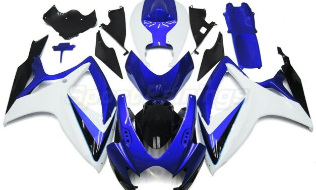 Injection Blue Whit Fairings for Suzuki GSXR600 750 2006 2007 Plastic Body Cover