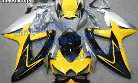 Fairing Silver Yellow Black Fit for 2008-2010 Suzuki GSX-R 600/750 Injection ABS