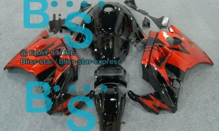 Red Glossy Fairing + Tank Cover Kit Fit  CBR600F2 92 93 1991-1994 04 B5