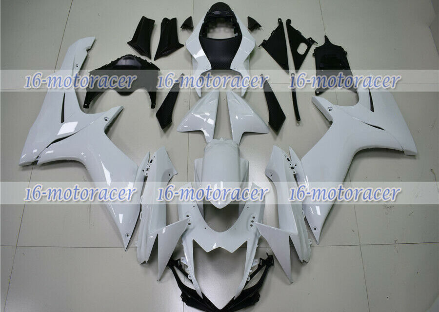 Fairing Kit Fit for GSXR 600 750 2011-2018 White ABS Injection Mold Bodywork #21