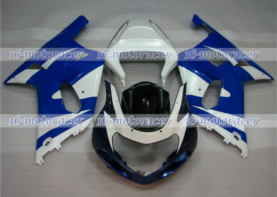 Fairing Fit for 2001-2003 GSXR 600 750 K1 ABS Injection Set Blue White Black #33