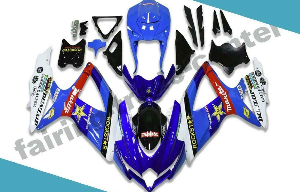 FTC Fairings Fit for GSXR 600 750 SUZUKI 2008-2010 Injection Molding Blue d073
