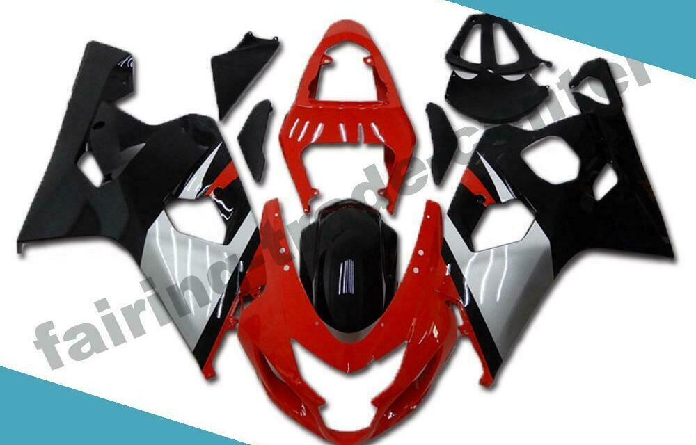 FTC Injection Kit Red Black Fairing Fit for Suzuki 2004 2005 GSXR 600 750 d008
