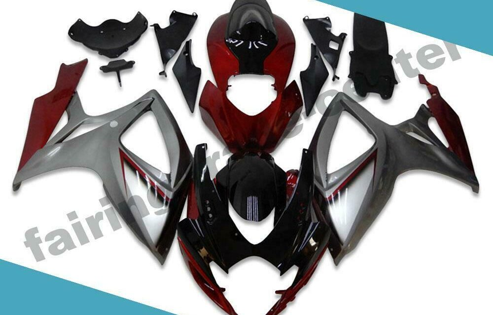 FTC Injection Red Silver Fairing Kit Fit for Suzuki 2006 2007 GSXR 600 750 d006