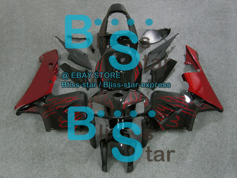 Flames Red INJECTION Fairing Bodywork Fit For  CBR600RR 2005-2006 33 B4