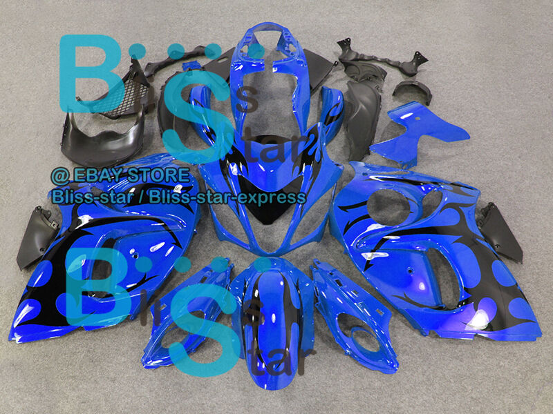 Glossy Blue INJECTION Fairing With Tank For  GSX-R1300 Hayabusa 08-19 21