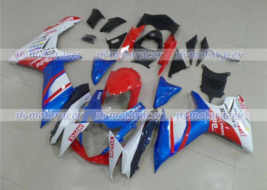 Fairing Fit for 2011-2018 GSXR 600 750 K11 Red Blue White Injection ABS Mold #53